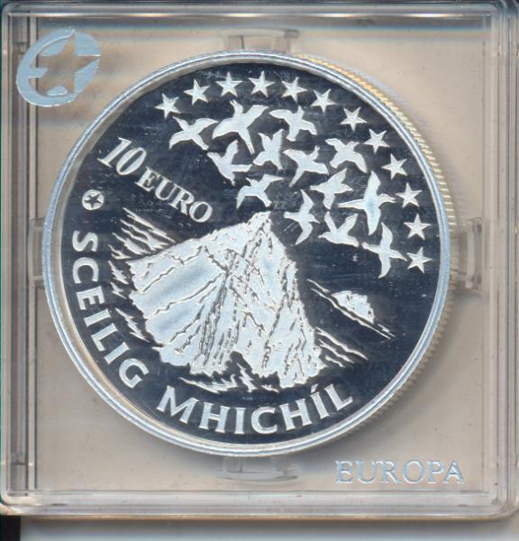 10 Euro Irland Eire 2008 PP kulturelles Erbe - Skellig Michael Silber Ag Europa Stern