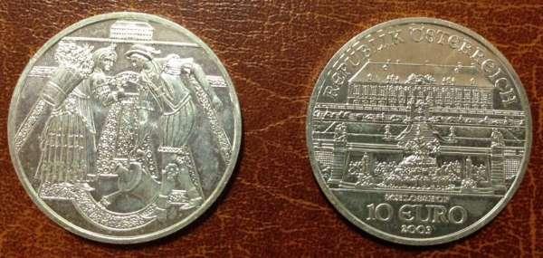 10 Euro Silber 2003 Schloss Hof lose - ANK Nr. 03