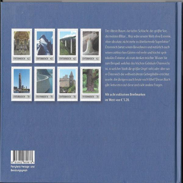 Briefmarkenbuch Österreich Extrem mit 8 exklusiven Briefmarken