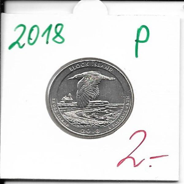 USA 25 Cent 2018 P Block Island (45)