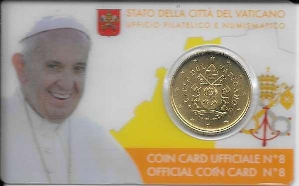 Coincard 50 Cent Kursmünze Vatikan 2017 Nr. 08