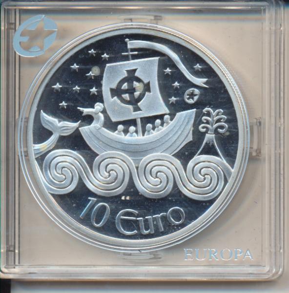 10 Euro Irland Eire 2011 PP St. Brendan the Navigator Silber Ag Europa Stern