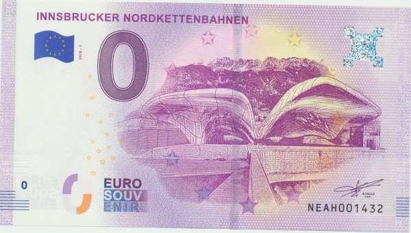ANK.Nr.14 Innsbrucker Nordkettenbahnen - Unc 0 Euro Schein 2018-1