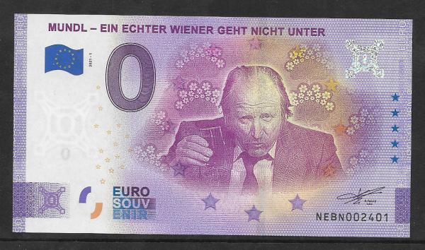 ANK.Nr. Mundl Ein echter Wiener geht nicht unter Unc 0 Euro Schein 2021-1