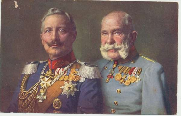 1WK Rotes Kreuz Kriegshilfsbüro Nr. 128 FJI +Wilhelm II