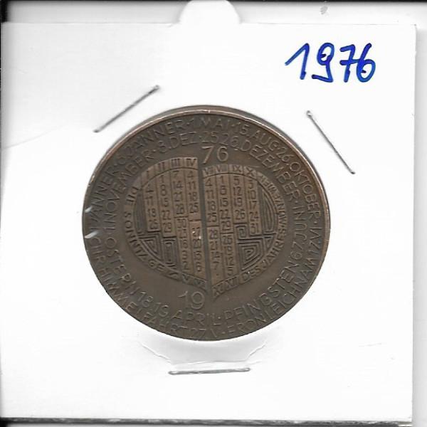 Kalendermedaille Jahresregent 1976 Bronze