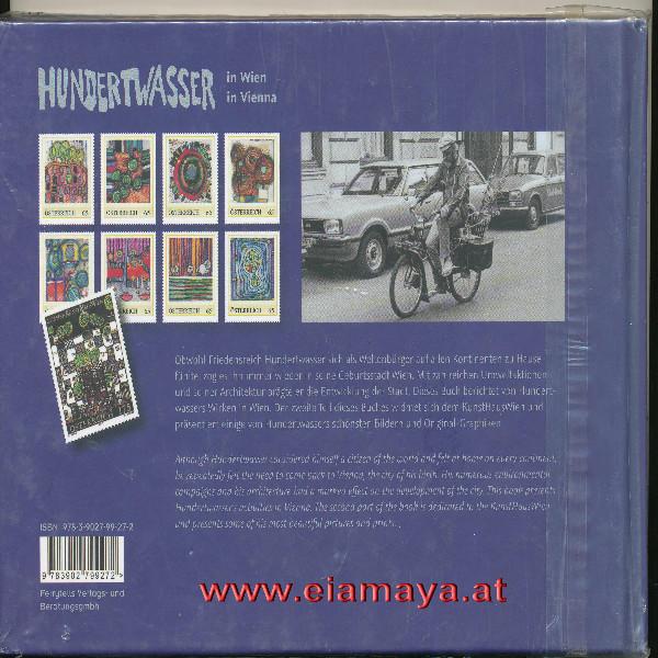Briefmarkenbuch Hundertwasser in Wien mit Buntdruck und 8 exklusiven 65 Cent Marken