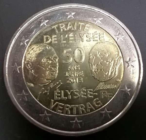 2 Euro Frankreich 2013 Elysee-Vertrag