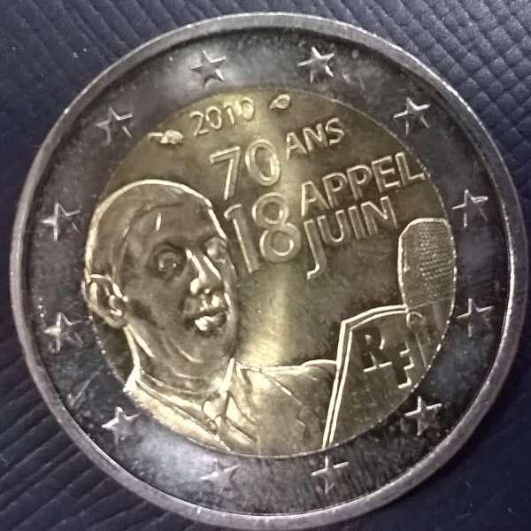 2 Euro Frankreich 2010 Appell Charles de Gaule