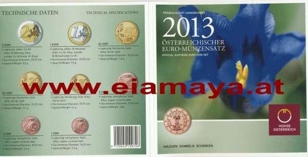 2013 offizieller Kursmünzensatz KMS Mintset