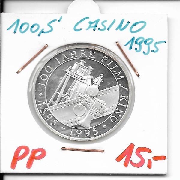 Casino Jeton 100 Schilling 100 Jahre Film Kino 1995 Casinos Austria Silber