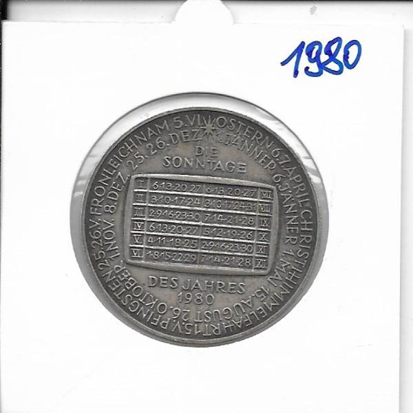 1980 Kalendermedaille Jahresregent Bronze versilbert