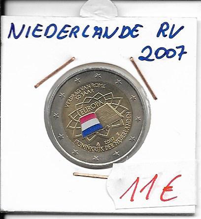 2 Euro Niederlande 2007 Römische Verträge Coloriert
