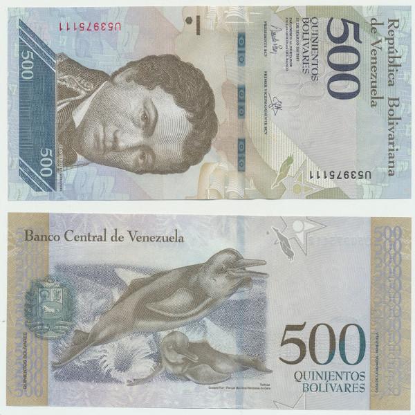 Venezuela – 500 Bolivares 23.03.2017, (P.) Erh. UNC