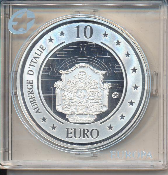 10 Euro Malta 2010 PP Auberge d´Italie - Europäisches Weltkulturerbe Silber Ag Europa Stern