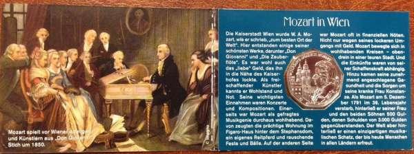 5 Euro Silber 2006 250 Geburtstag von Wolfgang Amadeus Mozart Wien & Salzburg ANK Nr. 8c