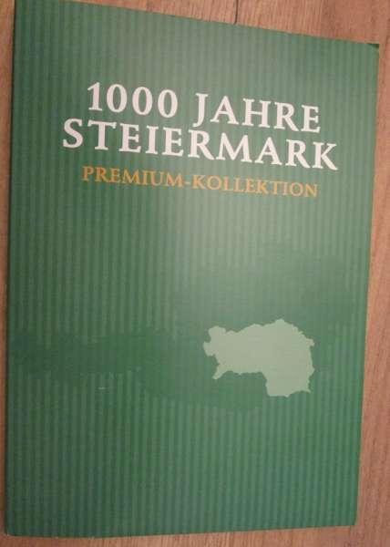 1000 Jahre Steiermark Premium Kollektion Silber 24 Karat vergoldet 10 Medaillen