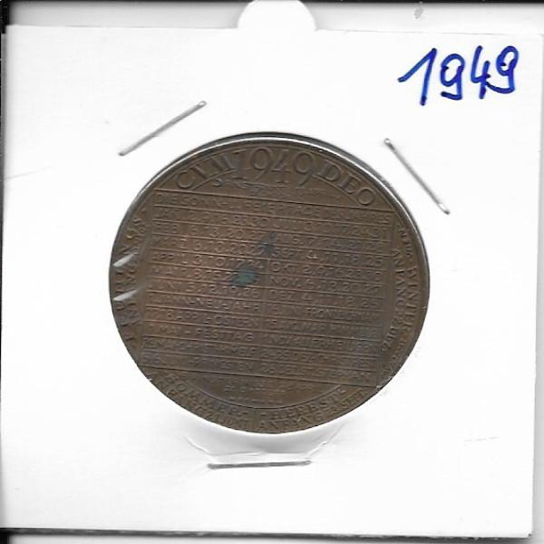 Kalendermedaille Jahresregent 1949 Bronze
