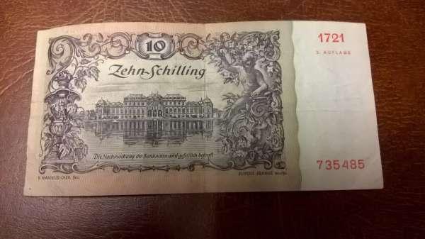 Pick 128 10 Schilling 1950 2.Auflage Erh.3-4