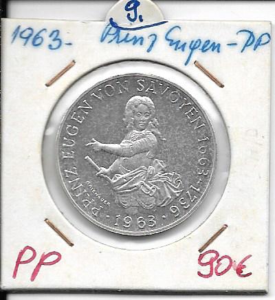 25 Schilling 1963 PP Prinz Eugen von Savoyen ANK Nr.009