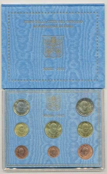 Kursmünzensatz Vatikan 2012 KMS Coinset