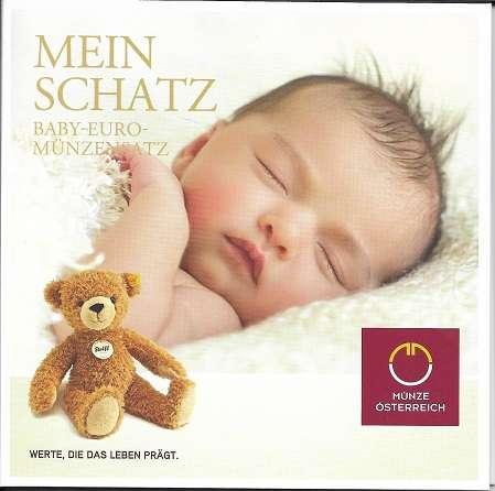 2021 Babysatz Euro Kursmünzensatz KMS Mintset Österreich