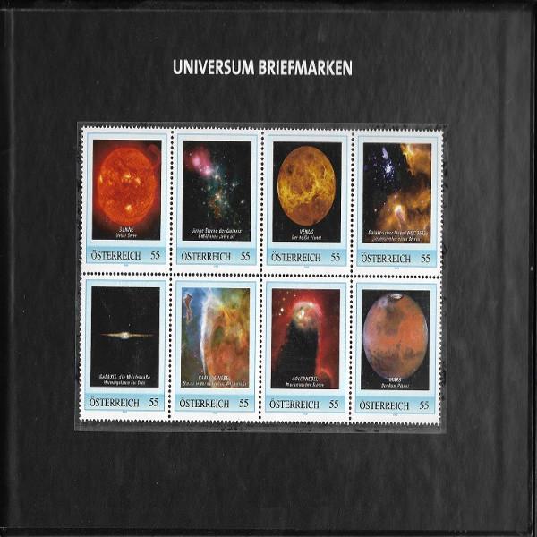Briefmarkenbuch Post aus einer anderen Welt Rote Edition und 8 Briefmarken