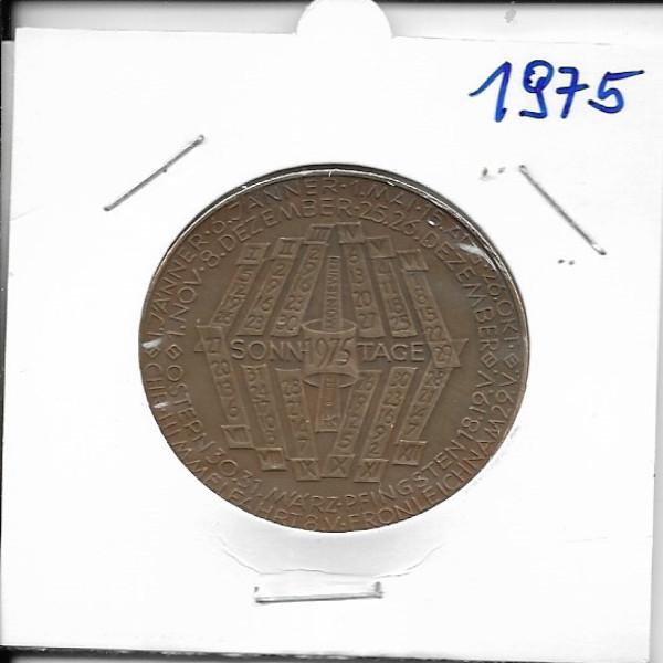 Kalendermedaille Jahresregent 1975 Bronze