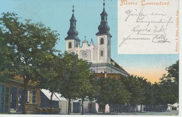 Maria Lanzendorf Correspodenz Karte ca 1903