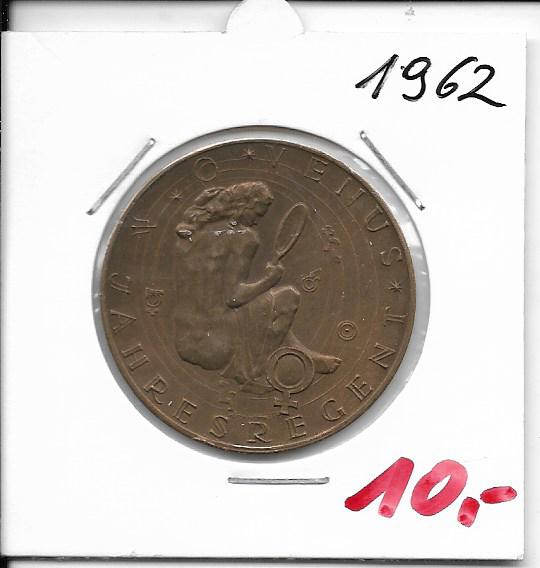 Kalendermedaille Jahresregent 1962 Bronze