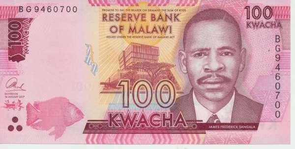 Malawi - 100 Kwacha 2012-13 UNC - Pick 59