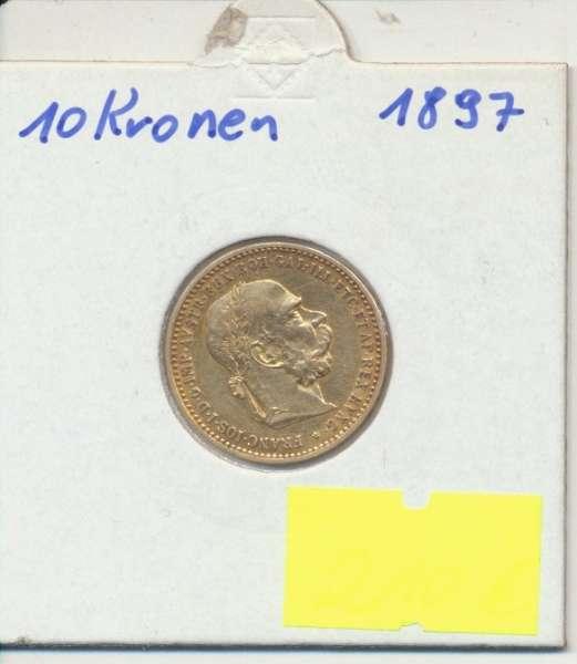 10 Kronen 1897 Franz Joseph I Gold