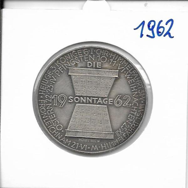 1962 Kalendermedaille Jahresregent Bronze versilbert