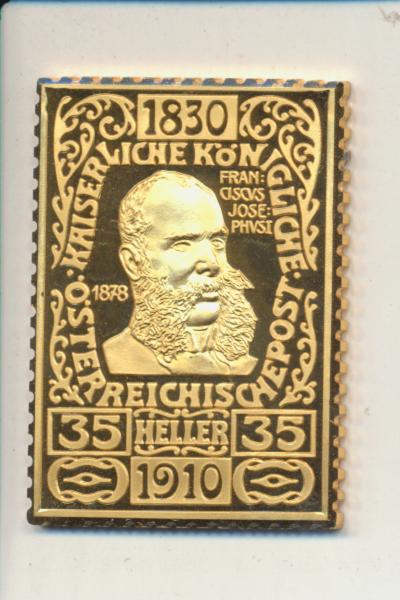 K&K Jubiläums Collection K&K Franz Joseph 1878 35 Heller 1910 Silber Gold