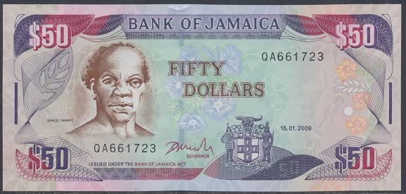Jamaica - 50 Dollars 2009 UNC - Pick 83
