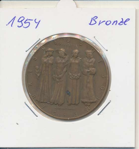 1954 Kalendermedaille Jahresregent Bronze