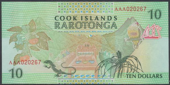 Cook Islands – 10 Dollars (1992) (Pick 8) Erh. UNC