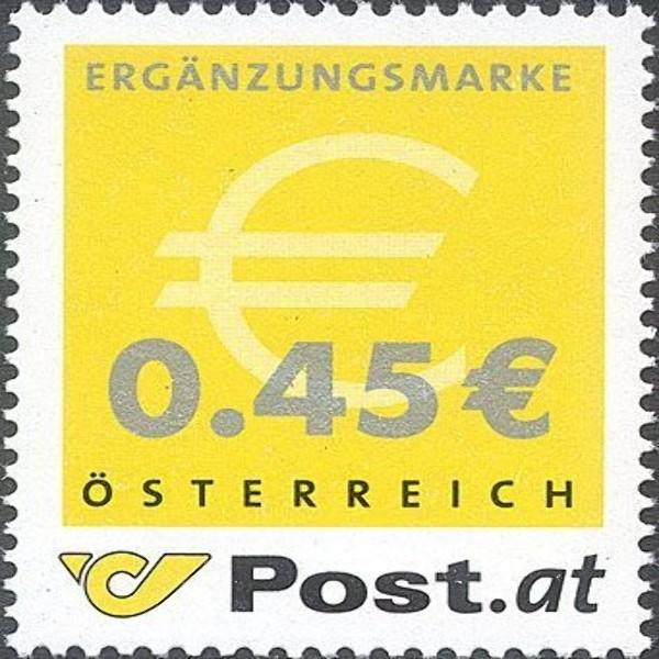 ANK 2436 Ergänzungsmarke mit eingedrucktem Wert 0,45 €** 2003