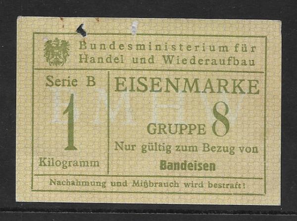 Eisenmarke 1 Kilo Gruppe 8 Bandeisen