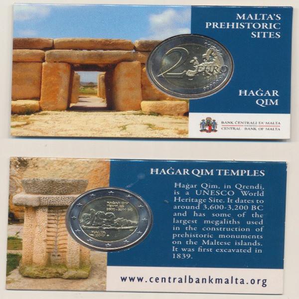 2 Euro Malta 2017 Tempel Hagar Qim in Coincard