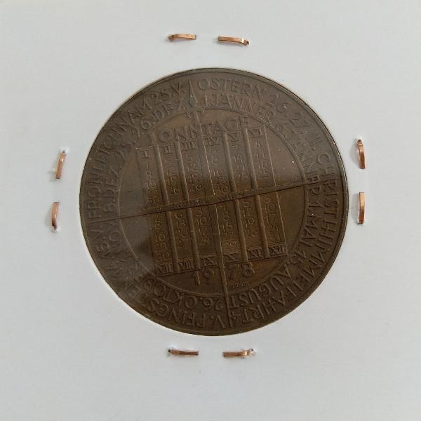 1978 Kalendermedaille Jahresregent Bronze