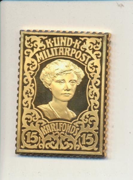 K&K Jubiläums Collection Karlfonds Zita 15 Heller 1918 K&K Silber Gold