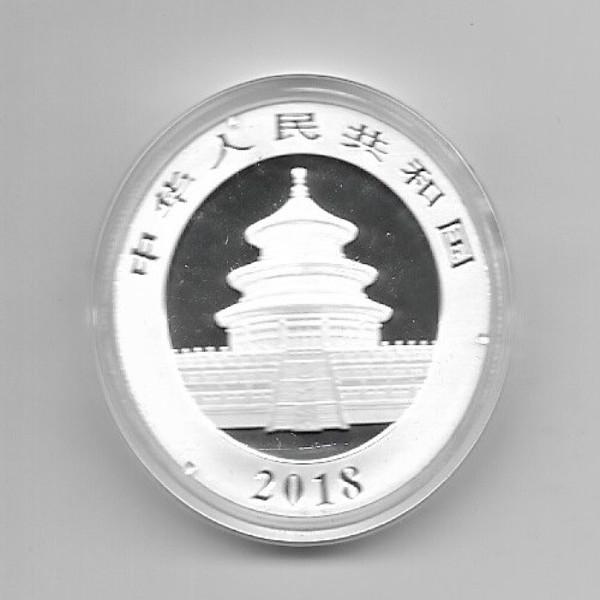 China 10 Yuan 2018 Panda 30g Silber