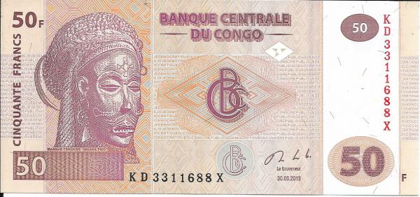 Congo Kongo - 50 Francs 2013 UNC - Pick 97a