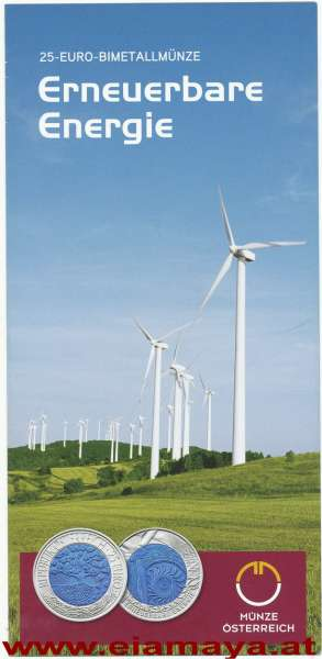 ANK Nr. 08 Flyer FOLDER ZU DER 25 EURO MÜNZE - Erneuerbare Energie Niob 2010