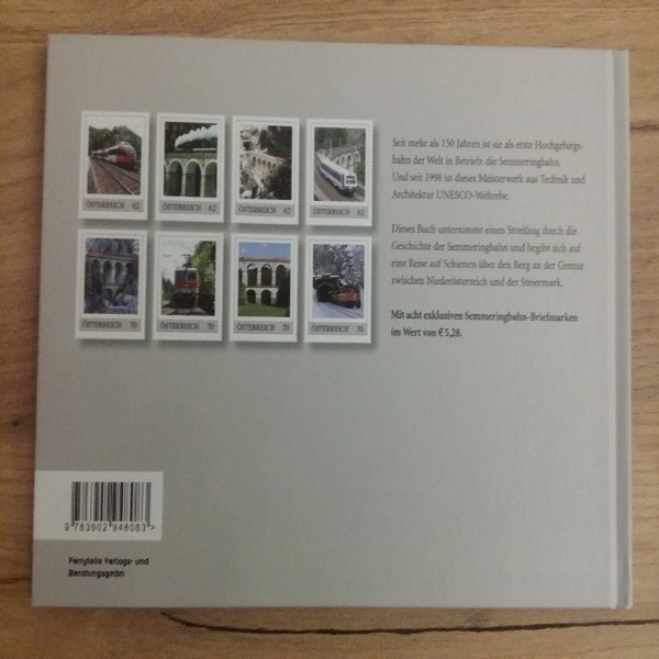 Briefmarkenbuch Die Semmeringbahn mit 8 exklusiven Marken