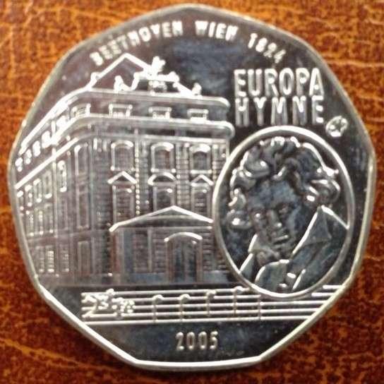 5 Euro Silber 2005 Europahymne lose ANK Nr. 6b