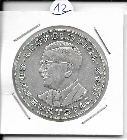 ANK Nr. 12 80 Geburtstag Leopold Figl 1982 500 Schilling Silber Normal