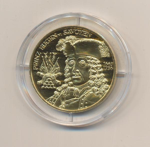 20 EURO MÜNZE - Die Barockzeit 2002 24 Karat Vergoldet Silber