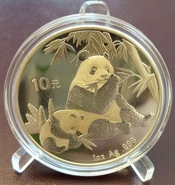 China 10 Yuan 2007 Panda 31,1g 1 Oz Silber Unze